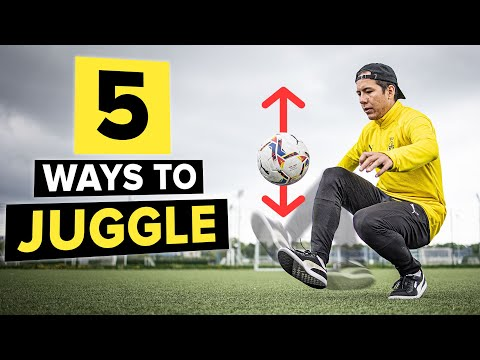 Learn 5 different ways to juggle a ball