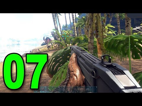ARK: Survival Evolved - Part 7 - ASSAULT RIFLE vs DINOSAURS