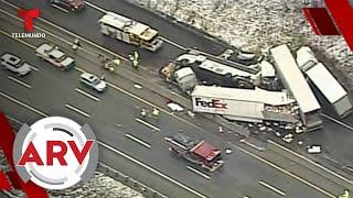 Se estrella autobús de pasajeros dejando 5 muertos y 60 heridos   Al Rojo Vivo   Telemundo