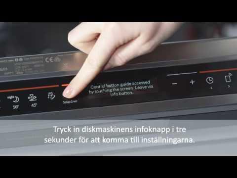 Home Connect anslutning av Bosch diskmaskin