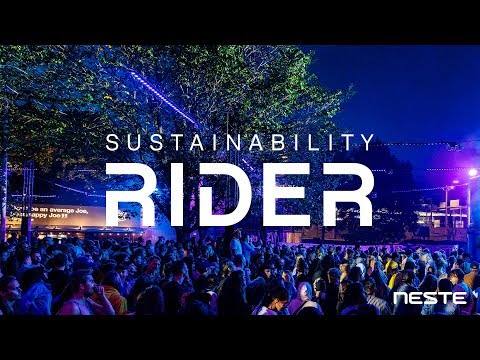 Flow and Neste offer the artists of the festival a possibility to participate in the combat against climate crisis by introducing a new Sustainability Rider. The Sustainability Rider is an easy-to-adopt set of clauses that any artist can add to their existing riders. It's an effortless way for artists to take a stand for the environment.  By setting climate clauses to riders, festivals, promoters and venues will be encouraged to think about how they produce their experiences. The Sustainability Rider is freely available to artists all over the world, and can be downloaded from www.neste.com/sustainabilityrider