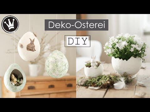 DIY – Deko-Osterei aus Toilettenpapier | Basteln mit Papier | Osterdeko | DekoideenReich