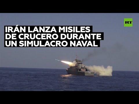Irán lanza misiles de crucero durante ejercicios navales