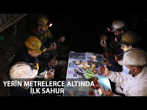 Zonguldak'ta Yerin Metrelerce Altında İlk Sahur