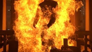 DuPont tries to burn a flame resistant suit and it is glorious