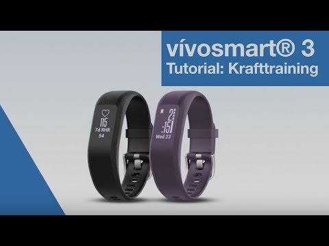 vívosmart® 3 Tutorial - Krafttraining