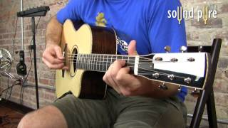 Huss and Dalton Concert Cutaway 2157 Acoustic Guitar Demo at Sound Pure