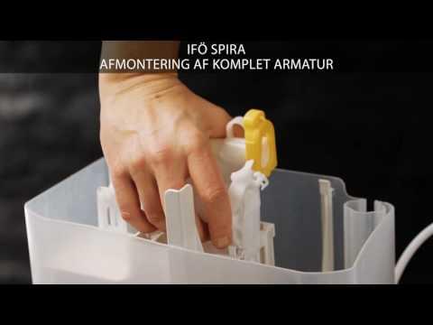 Afmontering af komplet armatur på et Ifö Spira toilet