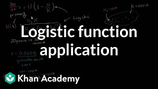 Logistic function application
