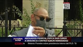 Abogados piden al PEPCA dar curso a denuncia contra Surún Hernández