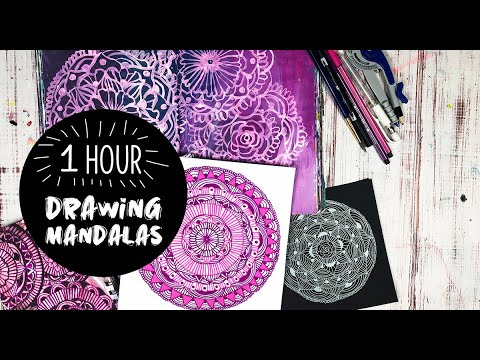 one hour of drawing mandalas