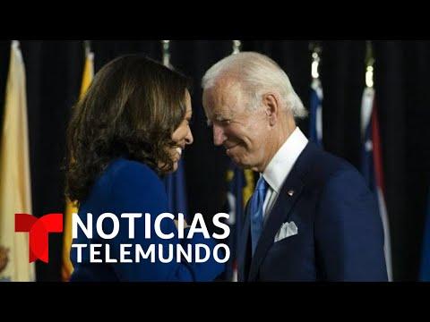 Kamala Harris felicitó a Biden a través de redes sociales | Noticias Telemundo