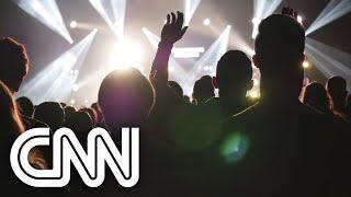 Músicos se apresentam em evento teste na Holanda | CNN DOMINGO
