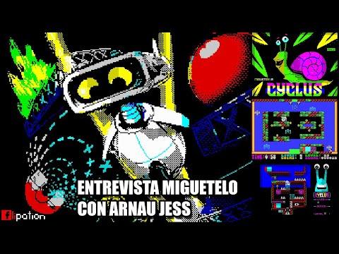 CYCLUS NEW ZX SPECTRUM GAME +  ENTREVISTA MIGUETELO CON ARNAU JESS