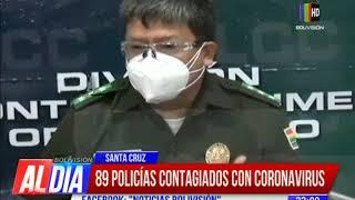 89 policías contagiados con coronavirus en Santa Cruz