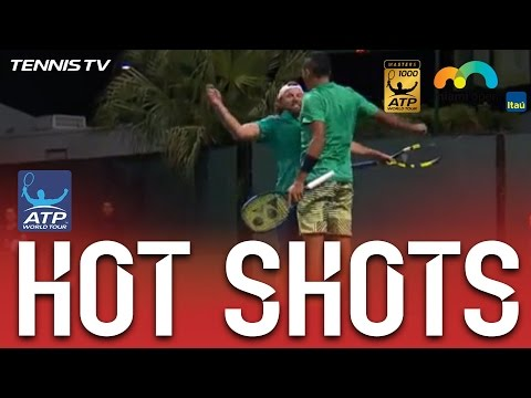 Hot Shot: Kyrgios And Reid Chest Bump At Miami 2017