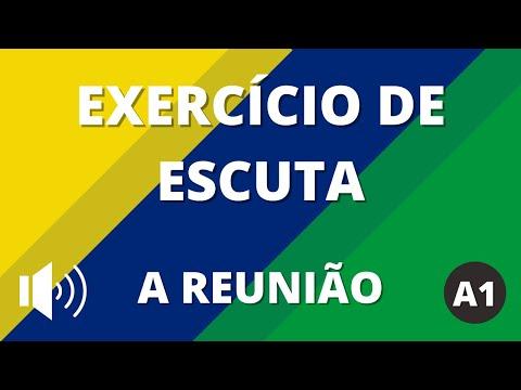 Exercício de escuta - Nível A1   A reunião   Vou Aprender Português