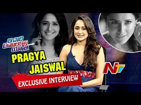 Pragya Jaiswal Exclusive Interview || Achari America Yatra || Manchu Vishnu