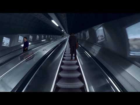 Talking escalator by KONE