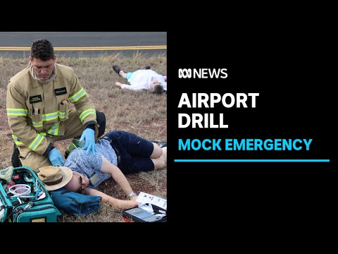 Darwin Airport staff put to the test in mock disaster simulation   ABC News