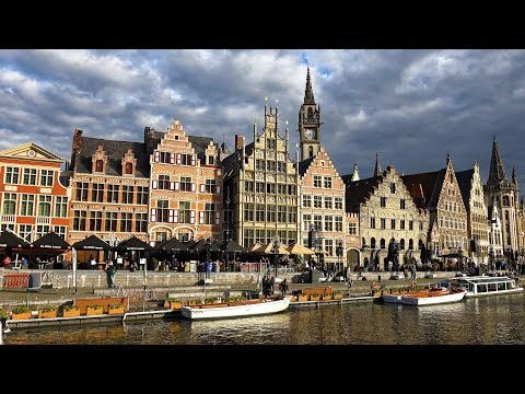 Historic Center of Ghent, Belgium in 4K Ultra HD