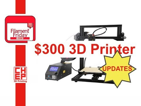 $300 Creality CR-10 Mini 3D Printer Problems and Updates Review