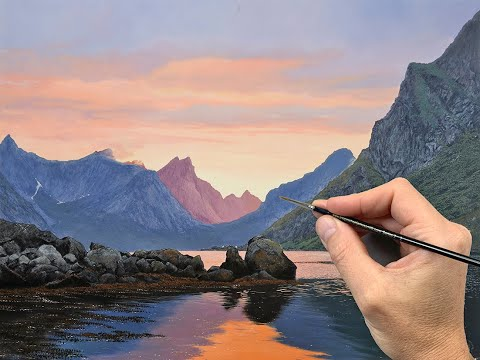 Painting an Atmospheric Landscape | Time lapse | Episode 206