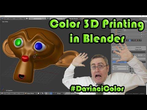 Color modeling for 3D printing in Blender Part 1 #DaVinciColor