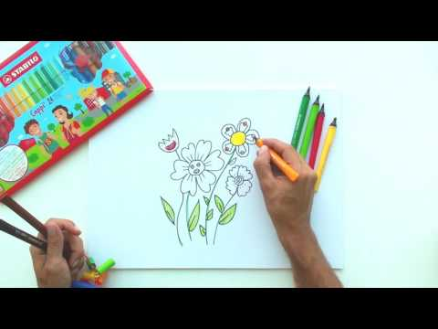 How to draw flowers (STABILO Tutorials, drawing beginners)