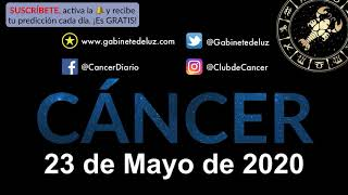 Horóscopo Diario - Cáncer - 23 de Mayo de 2020