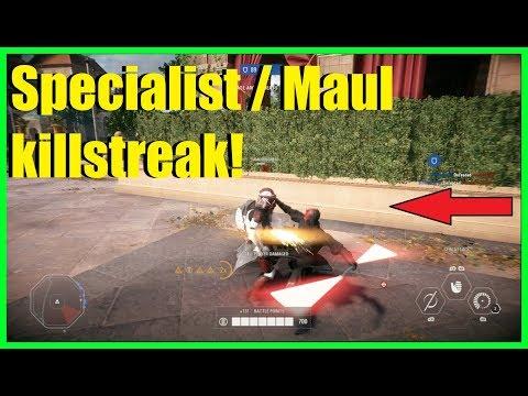 Star Wars Battlefront 2 - Specialist NT-242 killstreak! | Darth Maul ownage!