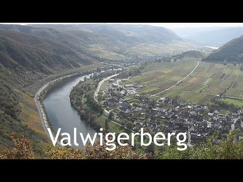 GERMANY: Valwigerberg - view over Moselle river [HD]