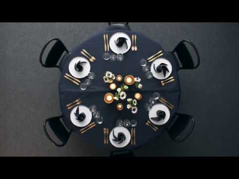 Inspirational Table Setting Design Ideas for Round Tables 2018
