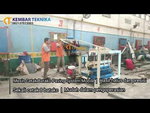 Mesin Cetak Batako Paving Cetak 8 Mobile