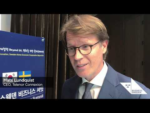Interview with Telenor Connexion CEO Mats Lundquist | Sweden-Korea Business Summit 2019
