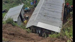 Deslizamiento de tierra pone en riesgo viviendas en Concepción Tutuapa