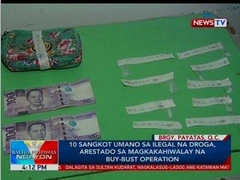 BP: 10 sangkot umano sa ilegal na droga, arestado sa magkakahiwalay na buy-bust operation