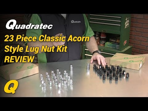 Quadratec 23 Piece Classic Acorn Style Wheel Lug Nut Kit for Jeep CJ & Wrangler