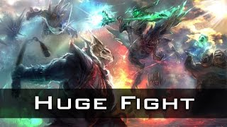 Newbee vs VG Huge Teamfight | The International 2014 Dota 2