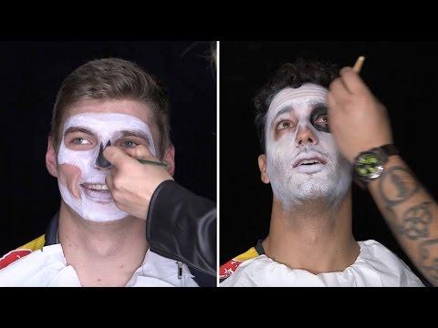 Daniel Ricciardo and Max Verstappen Día de los Muertos