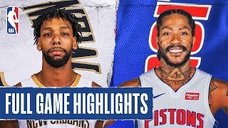 PELICANS at PISTONS | FULL GAME HIGHLIGHTS | January 13, 2020
