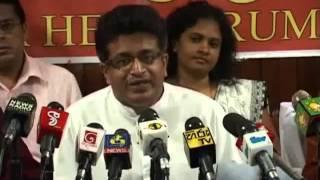 JHU Press conference about Halal -  14th February 2013 - S. B. Dissanayake was answered by Udaya Gam