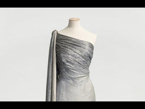Silverlamé med kunglig glans från NK:s Franska damskrädderi på Nordiska museet