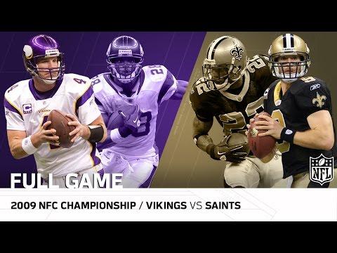2009 NFC Championship Game: Minnesota Vikings vs. New Orleans Saints | NFL Full Game