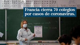 Francia cierra 70 colegios en la primera semana de desescalada por casos de coronavirus