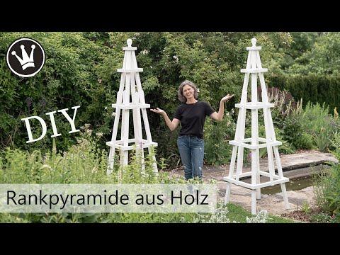 DIY: Rankpyramide selber bauen | Rankhilfe für Rosen | Rankgerüst aus Holz Gartendeko DekoideenReich