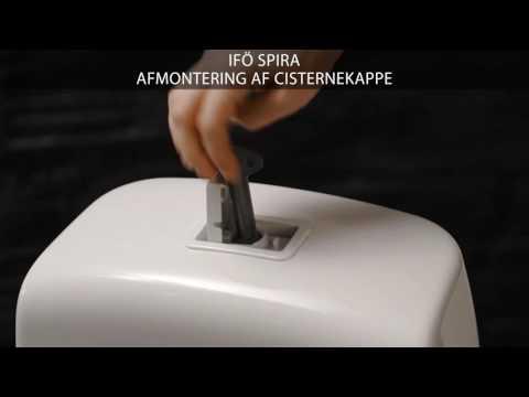 Afmontering af cisternekappe på et Ifö Spira toilet