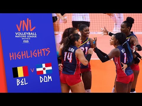 BELGIUM vs. DOMINICAN REPUBLIC - Highlights Women | Week 4 | Volleyball Nations League 2019