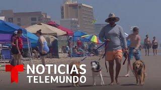 Coronavirus: Turistas violan distanciamiento social, expertos temen brote   Noticias Telemundo