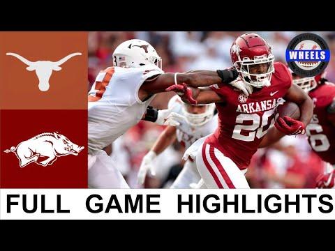 #15 Texas vs Arkansas Highlights | College Football Week 2 | 2021 College Football Highlights
